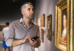 Usando Aumentur en un museo